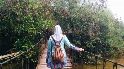Ada Sisa Kesegaran  di Hutan Mangrove PIK