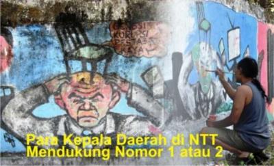 Para Kepala Daerah di NTT Mendukung Nomor 1 atau 2