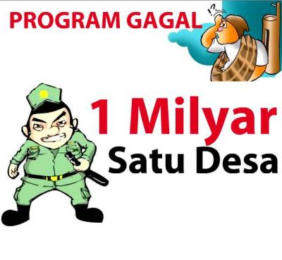 Gagalnya Program 1 milyar 1 Desa Pak Jokowi-Jk