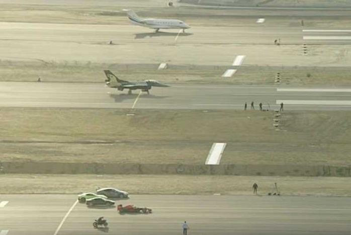 Adu Kecepatan di Bandara | Motor, Mobil, Pesawat Tempur F16