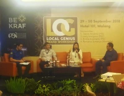 Melalui Local Genius Brand Workshop, Bekraf Ajak UMKM Mengubah Produk Lokal Menjadi Global