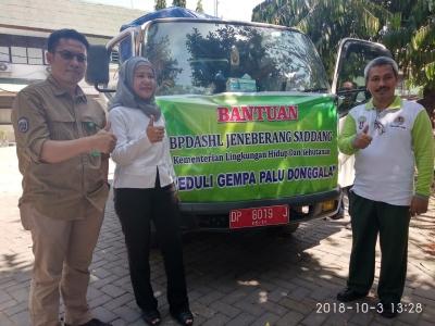 Relawan KLHK Satker Wilayah Sulsel Salurkan Bantuan ke Sulteng