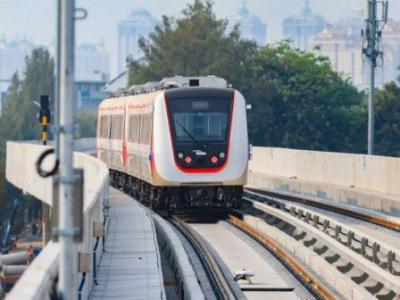 LRT Jakarta Fase I Ditargetkan Beroperasi Januari 2019