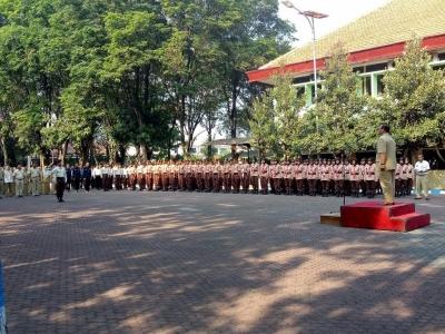 Kepala Dinas Kehutanan Jawa Timur Lepas Kontingen Saka Wanabakti