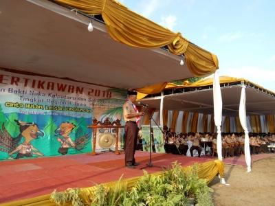 Bambang Hendrayono, Mabisaka Tingkat Nasional Apresiasi Kontingen Jawa Timur Untuk Pertikawan Regional Jawa 2018