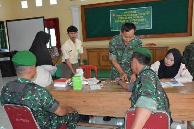 Tentara Brebes Disuntik Vaksin Hepatitis B