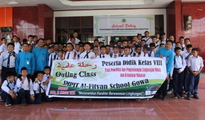 Outing Class SMP IT Al Fityan Gowa di BP2LHK Makassar
