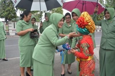 Ketua Persit Kodam IV Diponegoro Berkunjung ke Brebes