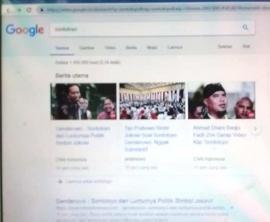 Jejak Digital Sontoloyo Gendurowo Google dan Yahoo Menampilkan Jokowi