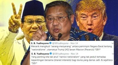 Pinjam Trump vs Macron, SBY