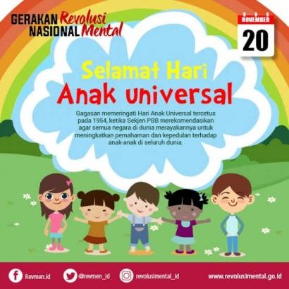 Hari Anak Universal, Wujudkan Dunia yang Ramah bagi Anak