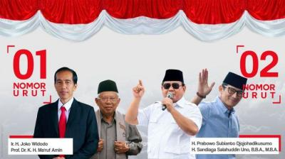 Solidaritas Koalisi Prabowo-Sandi Vs Jokowi-Ma`ruf