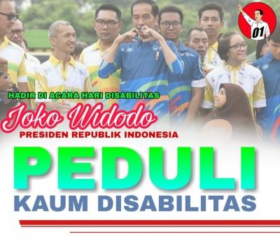 Peduli Jokowi pada Kaum Disabilitas