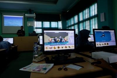 Antusias Siswa SMAN 9 Balikpapan dalam Mengikuti Pelatihan Pembuatan Animasi 3D