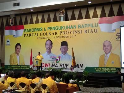 Airlangga Yakin Golkar Riau Mampu Rebut 4 Kursi DPR RI dan 20 Kursi DPRD Provinsi