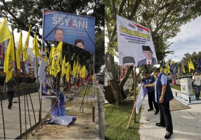 Baliho Bergambar SBY dan Ani Yudhoyono Dirobek, ke Mana Riau yang Cinta Damai?