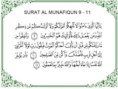 Orang Kaya Wajib Baca, Ini Penjelasan Surat Al-Munaafiqun Ayat 9-11