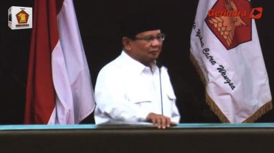 Pidato Prabowo Antara Pesimis dan Realistis