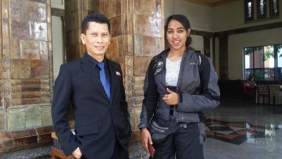 Candida Louis, Penjelajah Dunia Singgahi Semarang