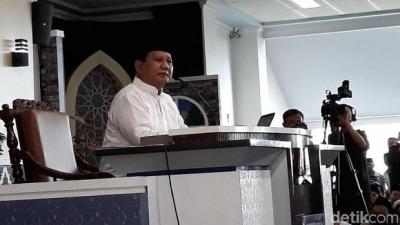 Prabowo Subianto: Indonesia Setingkat dengan Negara Miskin di Afrika, tetapi Haiti di Amerika