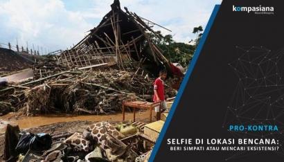 """[Pro-Kontra] """"Selfie"""" di Lokasi Bencana, Apa yang Mereka Cari?"""