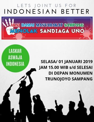 Surat Terbuka LPM Terkait Aktor Intelektual Penolakan Sandiaga di Sampang, Madura