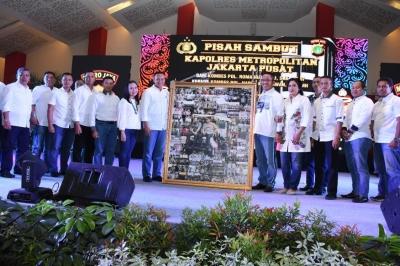 Dandim 0501/JP BS Hadiri Acara Pisah Sambut Kapolres Metro Jakarta Pusat