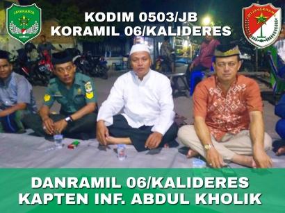Mengenang Babinsa Kamal Almarhum Sertu Mursaid, Koramil 06 Kalideres Gelar Tahlilan