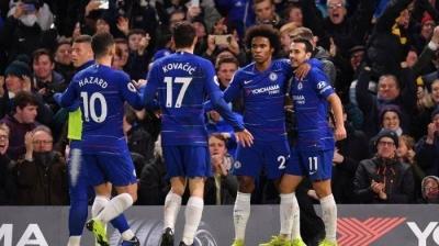 Beruntung Chelsea Menang