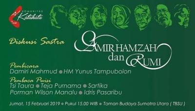 Komunitas Kata-Kata Menguak Tabir Amir Hamzah bersama Damiri Mahmud