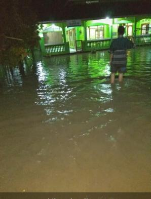 Warga Seyegan Kebanjiran