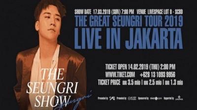 Konser Seungri Bulan Maret Resmi Dibatalkan, Jutaan Fans Kecewa!