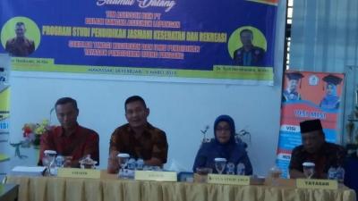 Akreditasi Prodi Penjaskrek, Tim Asesor BAN-PT Datangi STKIP YPUP Makassar