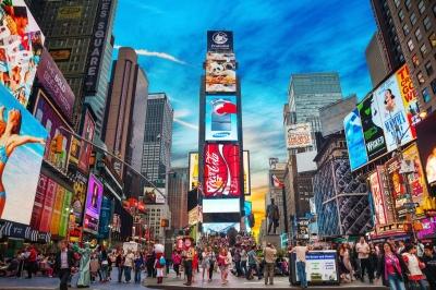 """Times Square dan Broadway sebagai """"Persimpangan Dunia"""""""