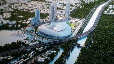 Jakarta International Stadium, Atap Lapangan Bisa Dibuka-tutup