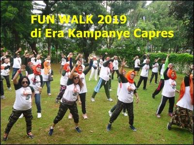 Fun Walk di Era Kampanye Capres 2019