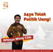 Caleg DPD DIY Bambang Soepijanto Puji Desa Anti Politik Uang