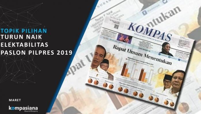 [Topik Pilihan] Turun Naik Elektabilitas Paslon Pilpres 2019