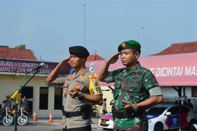 TNI Polri di Mojokerto Gelar Apel Kesiapan Pam Pemilu 2019