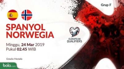 Spanyol vs Norwegia Tanpa Live Streaming RCTI