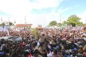 Meriahnya Warga Merauke Papua Menyambut Prabowo