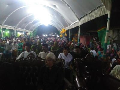 Danramil Mayong Hadiri Pengajian Isra' Mi'raj dan Harlah ke-96 NU
