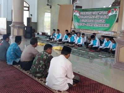 Babinsa Bersama Bhabinkamtibmas Hadiri Pengajian Isro' Mi'roj di Desa Binaanya