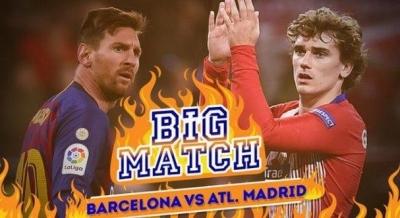 Barcelona Vs Atletico Madrid (4, Tamat)