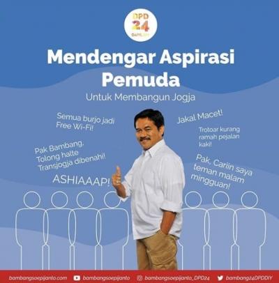 Bambang Soepijanto, Satu-satunya Caleg DPD DIY yang Mendengarkan Aspirasi Pemuda