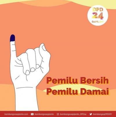 Bambang Soepijanto Serukan Pemilu Bersih dan Damai