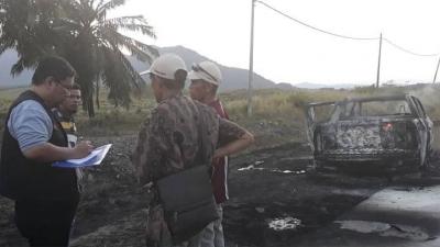 Ketahuan Curang, Mobil Surat Suara 'Terbakar'