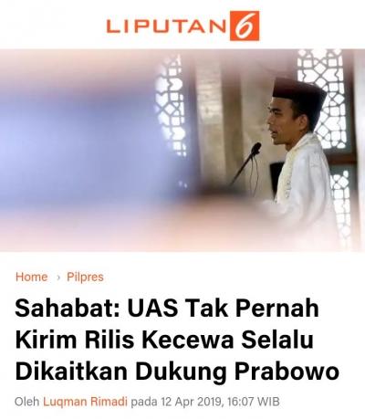 Klarifikasi Liputan6.com Tentang Rilis Berita Klarifikasi UAS