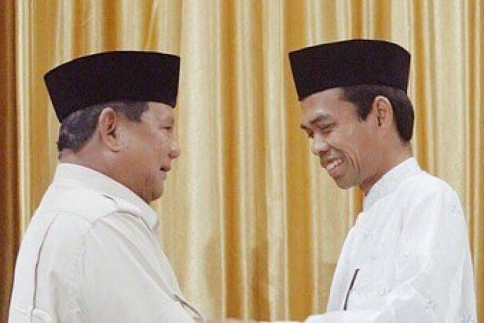The Power of UAS Mendongkrak Jumlah Pendukung Prabowo