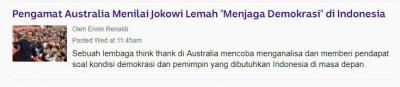 """Lagi-lagi Pengamat Internasional """"Asbun"""" Soal Demokrasi di Indonesia"""